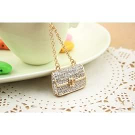 Porte-clé sac à mains doré gravé