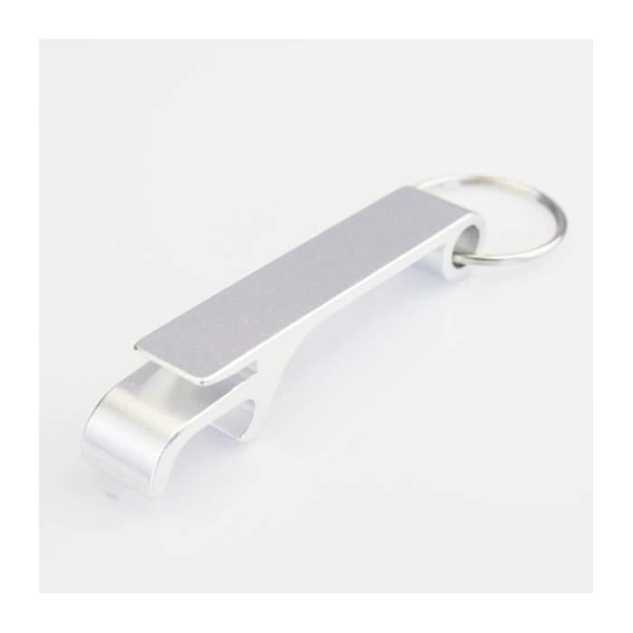 Porte-clés décapsuleur coloris argent