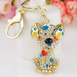 Porte-clés chien dalmatien à personnaliser
