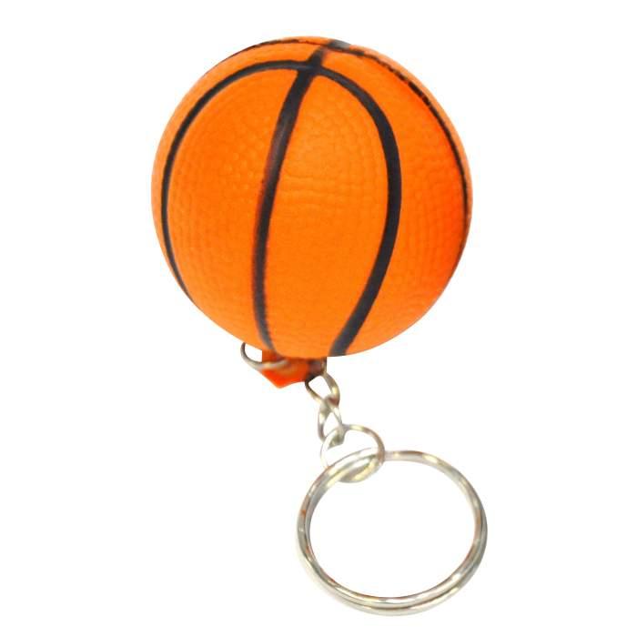 Porte-clés ballon de basket orange personnalisé