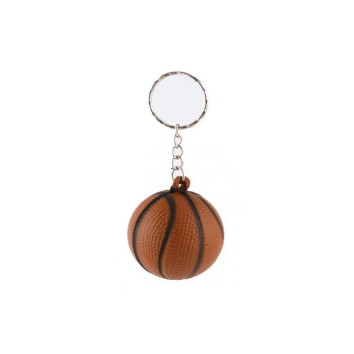 Porte-clés ballon de basket orange foncé personnalisé