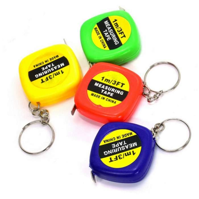 Porte-clés mètre ruban personnalisé