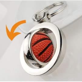 Porte-clés personnalisé rotatif ballon de basket