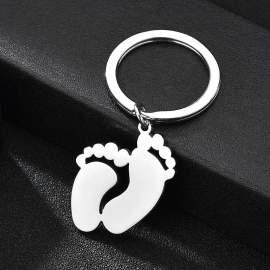 Porte-clés pieds de bébé - enfant