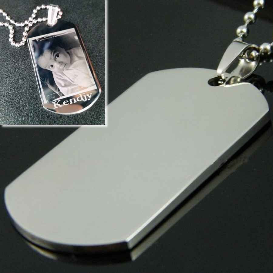 plaque militaire personnalis e dog tag grav. Black Bedroom Furniture Sets. Home Design Ideas