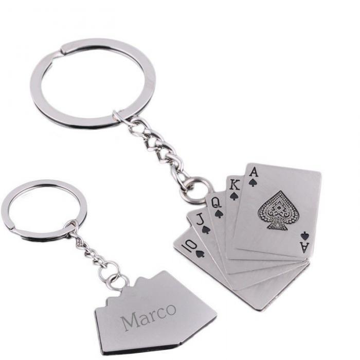 Porte clé poker jeu de cartes