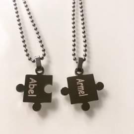 pendentif puzzle personnalisé