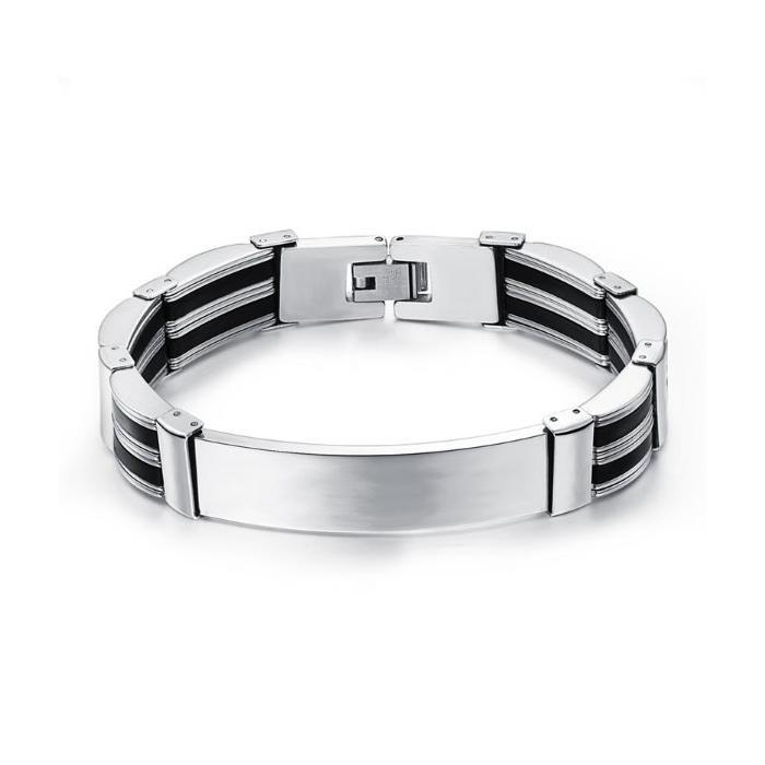 Bracelet gourmette gravé