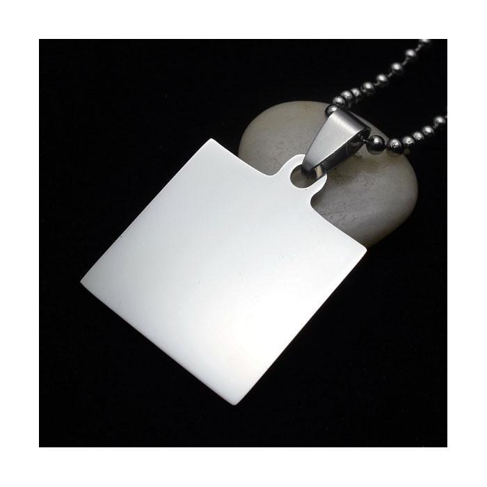 Pendentif carré personnalisable