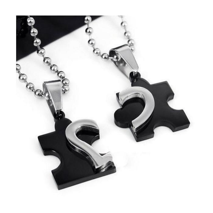 Pendentif puzzle cœur