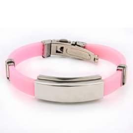 Bracelet gravé femme - rose