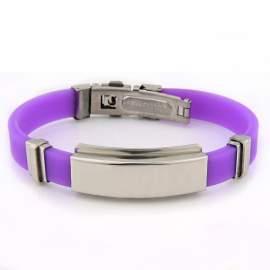 Bracelet gravé violet