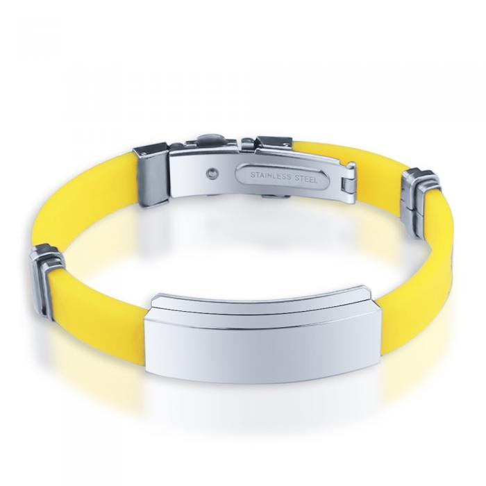 Bracelet gravé jaune