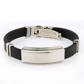 Bracelet gravé noir