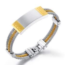 bracelet doré pour hommes à personnaliser