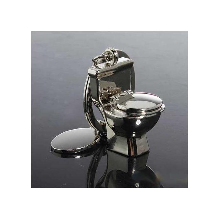 Porte-clés humoristique toilette à personnaliser