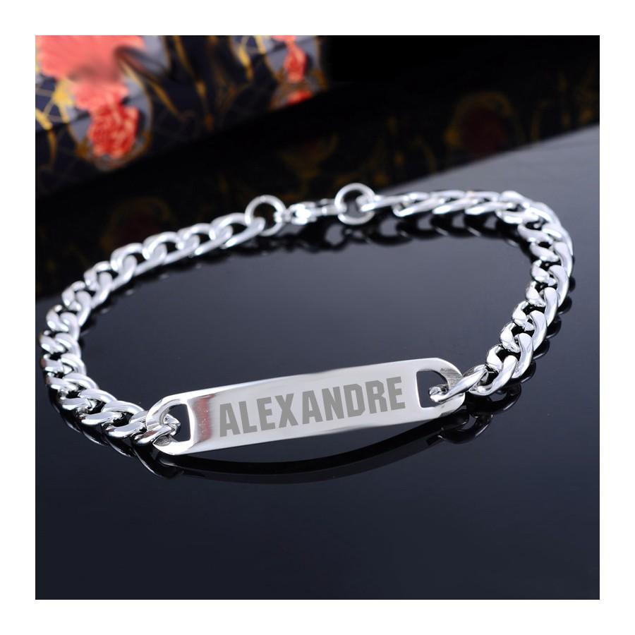 eba1130b0c5 gourmette homme gravure product product bracelet gourmette acier ...