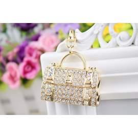 Porte-clés sac à main gravé pour femmes