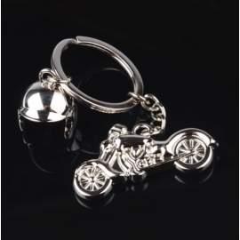 Porte-clé moto avec casque