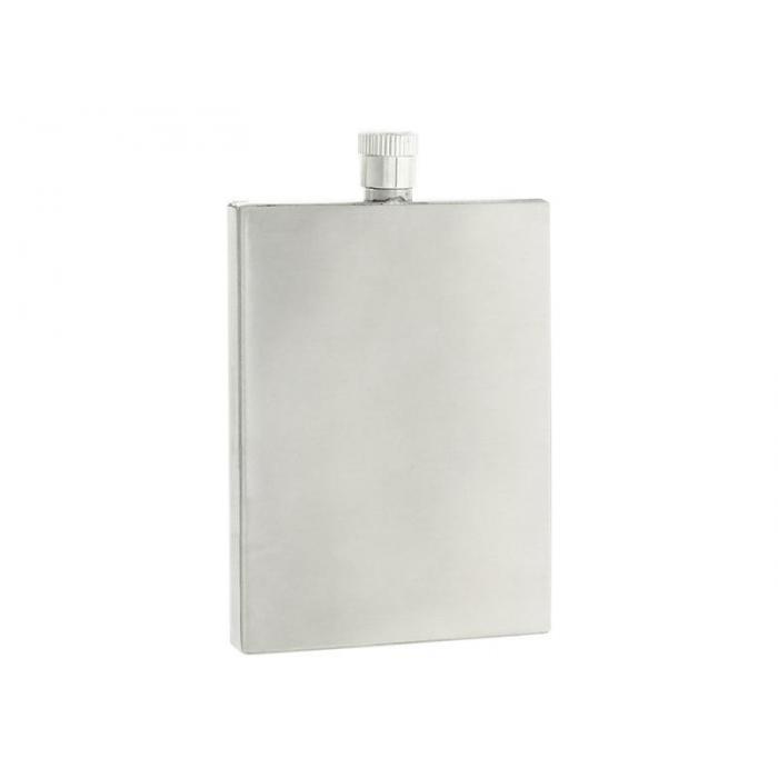 Flasque personnalisée plate en inox