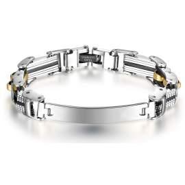Bracelet pour hommes avec acier doré