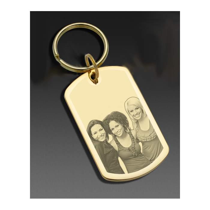 Porte-clé doré personnalisé