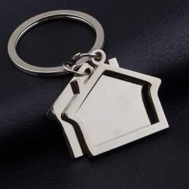 Porte-clés maison avec contour